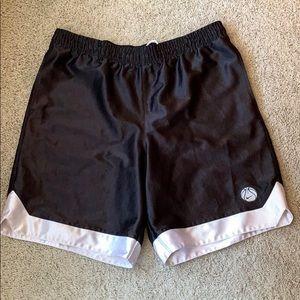 Nike Vintage 90's Ribbed Satin Basketball Shorts